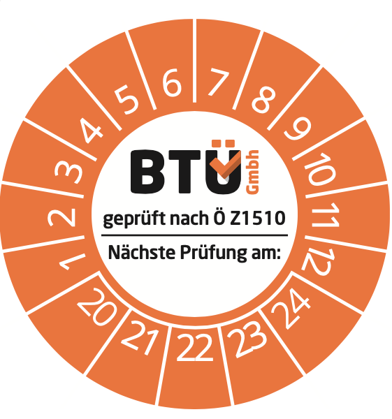 Prüfplakette BTÜ